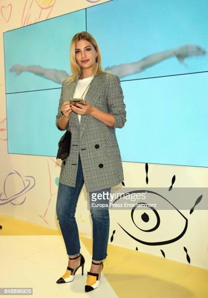 Miriam Giovanelli is seen during MercedesBenz Fashion Week Madrid Spring/Summer 2018 at Ifema on September 15 2017 in Madrid Spain