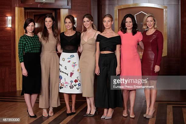 Miriam Giovanelli Juana Acosta Paula Echevarria Manuela Velasco Charlotte Vega Aitana SanchezGijon and Cecilia Freire attend 'Velvet' third Season...