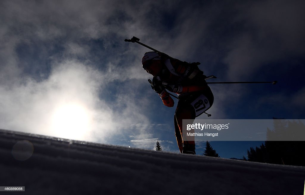 Miriam Goessner of Germany competes during the women's 7,5 km sprint event during the IBU Biathlon World Cup on December 12, 2014 in Hochfilzen, Austria.
