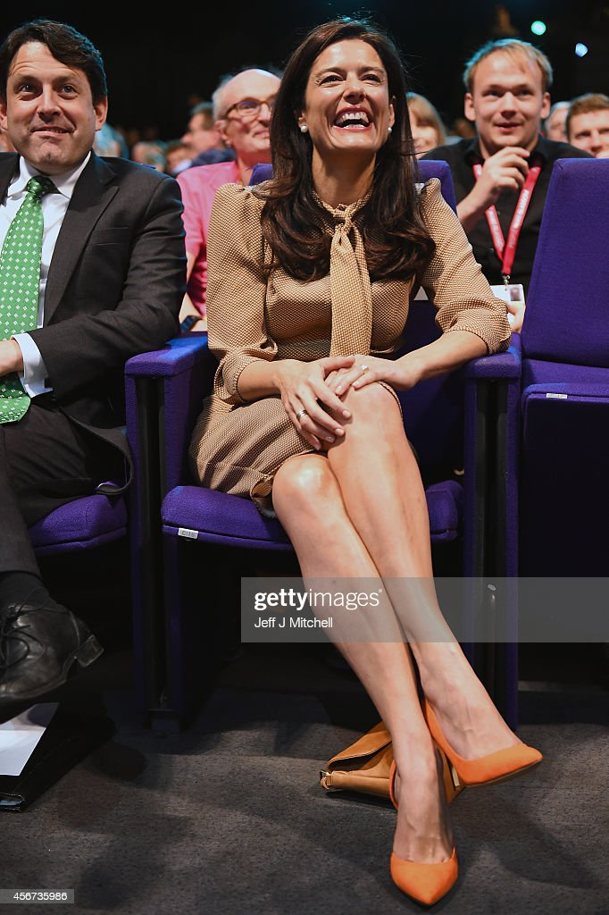 Miriam Gonzalez Durantez listens to her husband Deputy Prime Minister Nick Clegg, as he takes part in a question and answer session at the Liberal Democrat Autumn conference on October 6, 2014 in Glasgow, Scotland. The leader of the Liberal Democrats, Nick Clegg, reaffirmed his commitment to more devolution for Scotland to delegates during the Q&A.