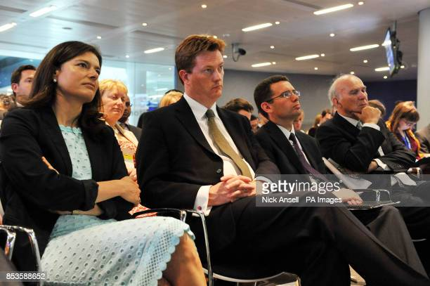Miriam Gonzalez Durantez the wife of the Deputy Prime Minister and leader of the Liberal Democrats Nick Clegg chief secretary to the treasury Danny...