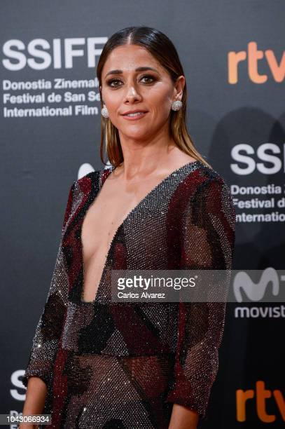 Miriam Hernandez attends the red carpet of the closure gala during 66th San Sebastian Film Festival at Kursaal on September 29 2018 in San Sebastian...