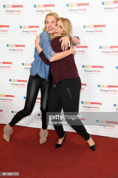 Miriam Hoeller and Angelina Kirsch attend the Ernsting's Family Fashion Show at Stage Operettenhaus on June 26 2017 in Hamburg Germany