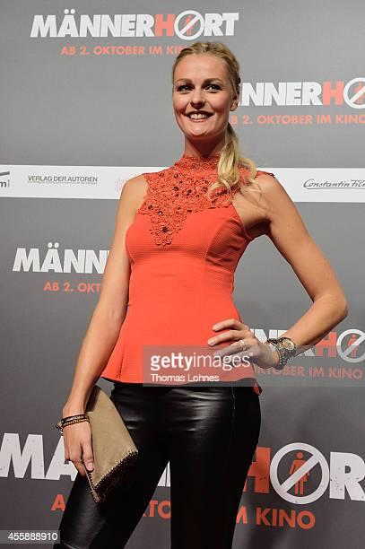 Miriam Hoeller attends the German premiere of the film 'Maennerhort' at CineStar Metropolis on September 21 2014 in Frankfurt am Main Germany