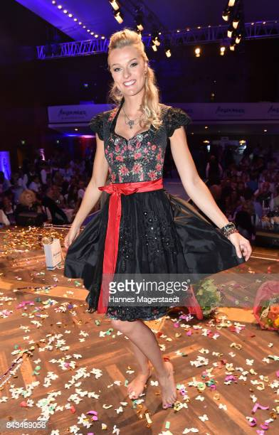 Miriam Hoeller during the Angermeier Trachten Nacht at Alte Kongresshalle on September 6 2017 in Munich Germany