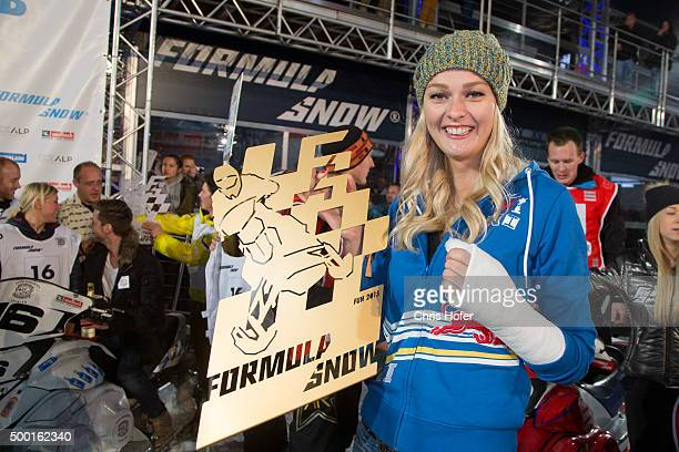 Miriam Hoeller during the third and final day of the Formula Snow 2015 ski opening on December 5 2015 in SaalbachHinterglemm Austria