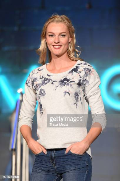 Miriam Hoeller walks the runway during the Ernsting's Family Fashion Show at Stage Operettenhaus on June 26 2017 in Hamburg Germany
