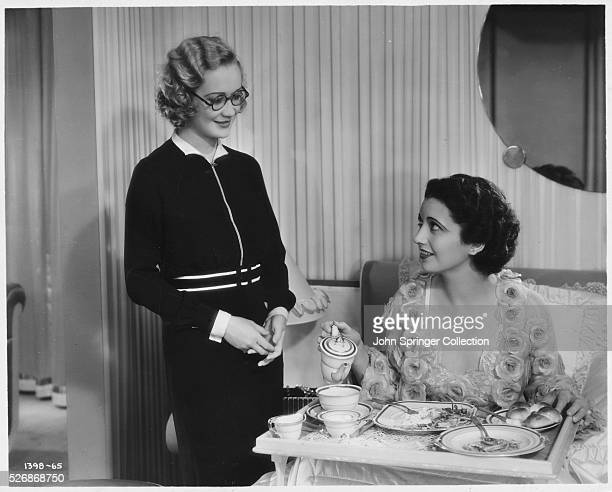 Miriam Hopkins and Kay Francis in the 1932 comedic romance Trouble in Paradise