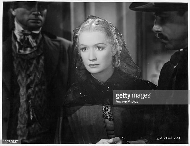Miriam Hopkins looking foward in a scene from the film 'Barbary Coast' 1935