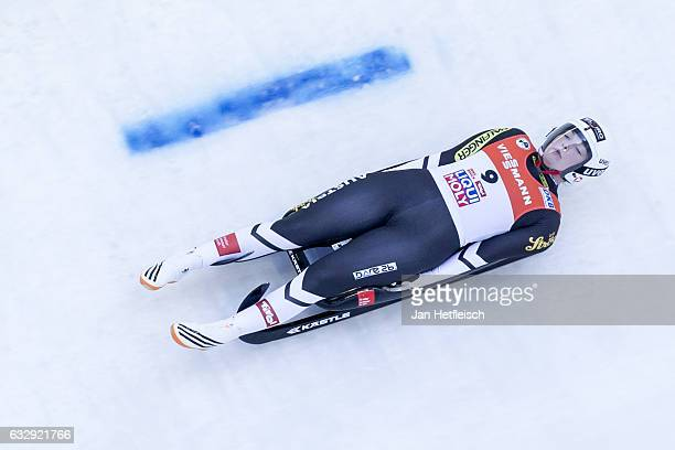 Miriam Kastlunger of Austria competes in the first heat of the Women's Luge competition during the second day of the FILWorld Championships at...