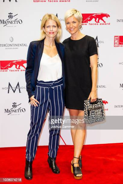 Miriam Lahnstein and Kerstin Landsmann attends the New Faces Award Show 2018 at Sammlung Philara on August 29 2018 in Duesseldorf Germany