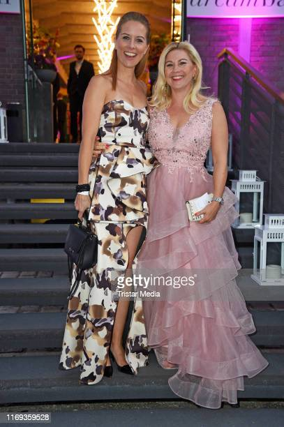 Miriam Lange and Aleksandra Bechtel attend the Dreamball 2019 at WECC - Westhafen Event & Convention Center on September 18, 2019 in Berlin, Germany.