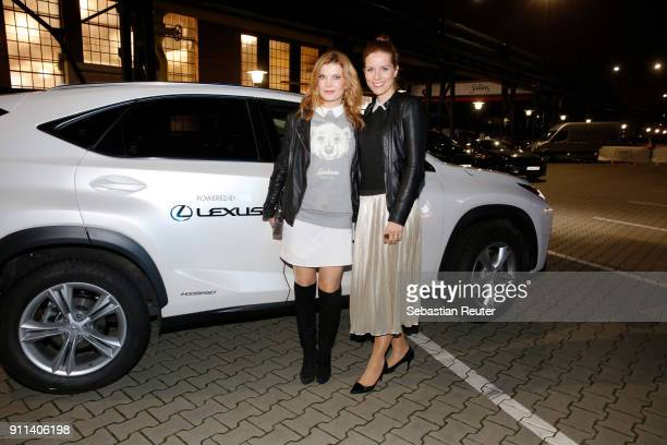Miriam Lange and Eva Imhof attend the 'Platform Fashion Selected' show during Platform Fashion January 2018 at Areal Boehler on January 28, 2018 in...