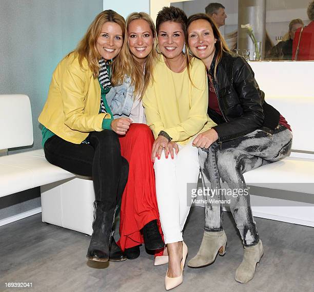 Miriam Lange Angela FingerErben Vanessa Blumhagen and Roberta Bieling attend the LUXUSLASHES Lounge Opening on May 23 2013 in Dusseldorf Germany