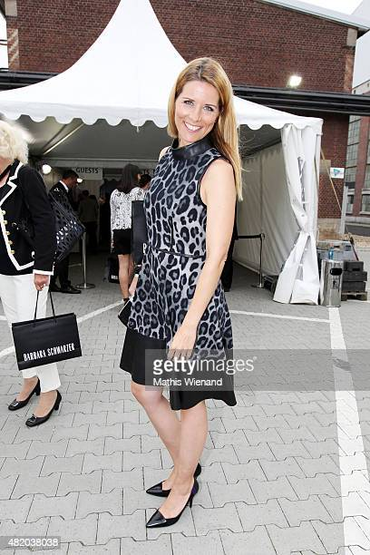 Miriam Lange arrives for the Annette Goertz show during Platform Fashion July 2015 at Areal Boehler on July 26 2015 in Duesseldorf Germany