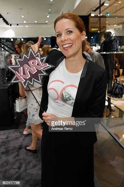 Miriam Lange attends KARL LAGERFELD at the Vogue Fashion's Night Out on September 9 2016 in Duesseldorf Germany