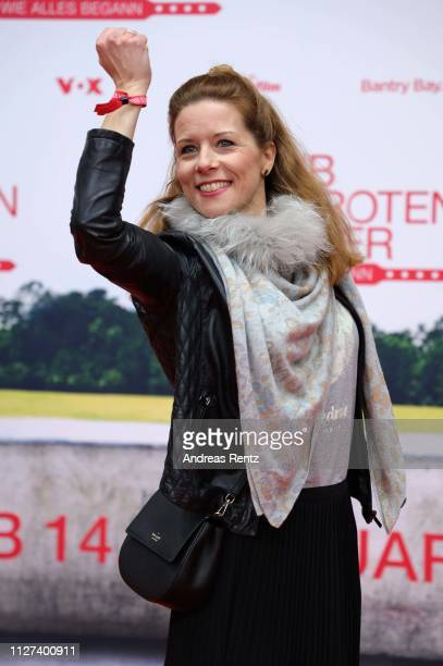 """Miriam Lange attends the German premiere of the film """"Club der Roten Baender - Wie alles begann"""" at Cinedom on February 04, 2019 in Cologne, Germany."""