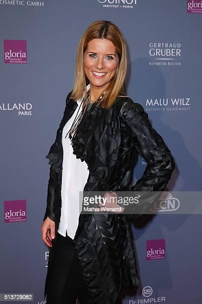 Miriam Lange attends the Gloria - Deutscher Kosmetikpreis 2016 at Hilton Hotel on March 4, 2016 in Duesseldorf, Germany.