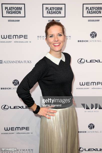 Miriam Lange attends the 'Platform Fashion Selected' show during Platform Fashion January 2018 at Areal Boehler on January 28 2018 in Duesseldorf...