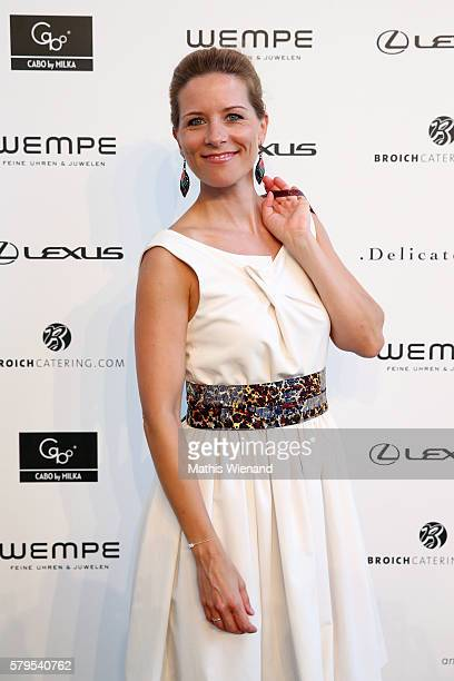 Miriam Lange attends the Platform Fashion Selected show during Platform Fashion July 2016 at Areal Boehler on July 24, 2016 in Duesseldorf, Germany.