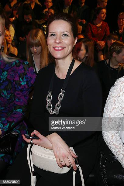 Miriam Lange attends the Thomas Rath show during Platform Fashion January 2017 at Areal Boehler on January 29 2017 in Duesseldorf Germany