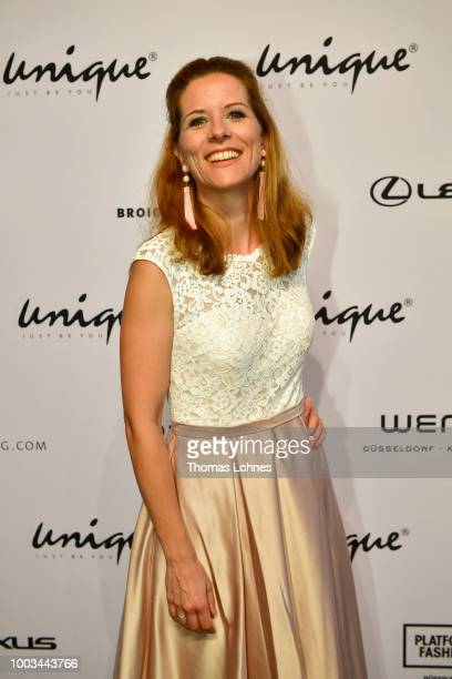 Miriam Lange attends the Unique show during Platform Fashion July 2018 at Areal Boehler on July 21 2018 in Duesseldorf Germany