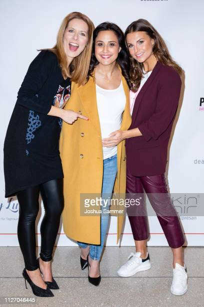 Miriam Lange, Ina Moghaddam and Laura Wontorra during the Superbirdy Special Edition Presentation at stilwerk on February 02, 2019 in Duesseldorf,...