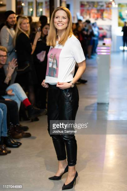 Miriam Lange walks the runway during the Superbirdy Special Edition Presentation at stilwerk on February 02 2019 in Duesseldorf Germany