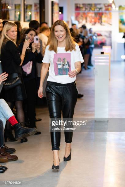 Miriam Lange walks the runway during the Superbirdy Special Edition Presentation at stilwerk on February 02, 2019 in Duesseldorf, Germany.