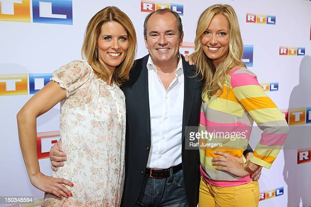Miriam Lange Wolfram Kons and Angela FingerErben attend the RTL Programm press conference Season 2012/13 on August 16 2012 in Cologne Germany