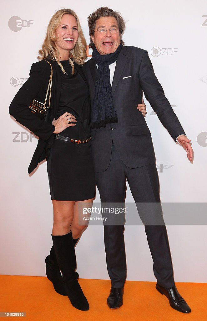Miriam Langenscheidt (L) and Florian Langenscheidt pose on March 25, 2013 after a taping of one of the segments of the television program '50 Jahre ZDF' (50 Years of ZDF) in Berlin, Germany. The television network ZDF, known for its TV programs 'heute' and 'Wetten Dass..?' was founded in 1961 and is celebrating its 50th birthday with the broadcast of an anniversary show.