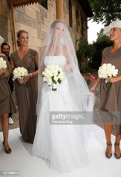 Miriam Langenscheidt attends her Church Wedding with husband Florian at Friedenskirche on September 8, 2012 in Potsdam, Germany.