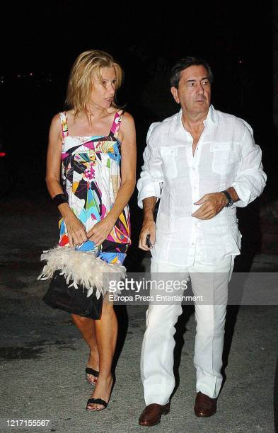 Miriam Lapique and Alfonso Cortina are seen on August 01, 2007 in Ibiza, Spain.