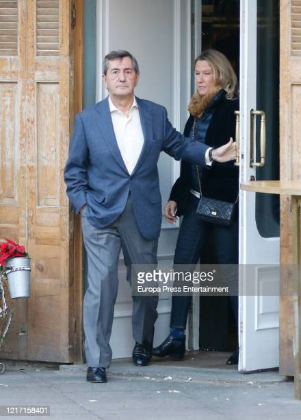 Miriam Lapique and Alfonso Cortina are seen on December 18, 2016 in Madrid, Spain.