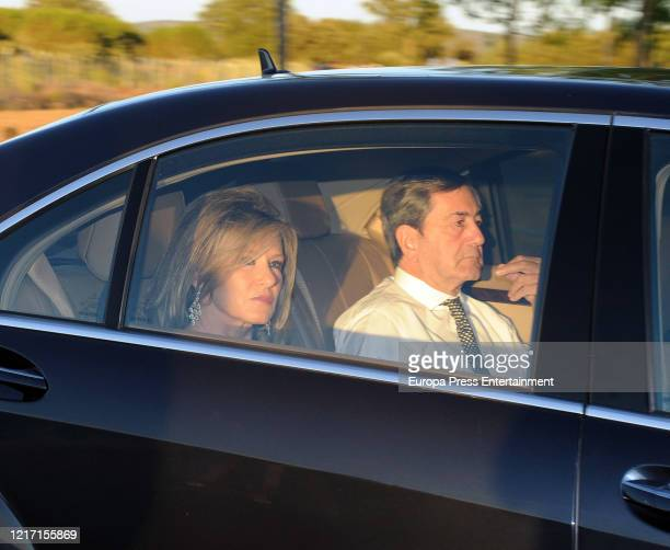 Miriam Lapique and Alfonso Cortina attend Miguel Abello's wedding on July 09, 2011 in Madrid, Spain.