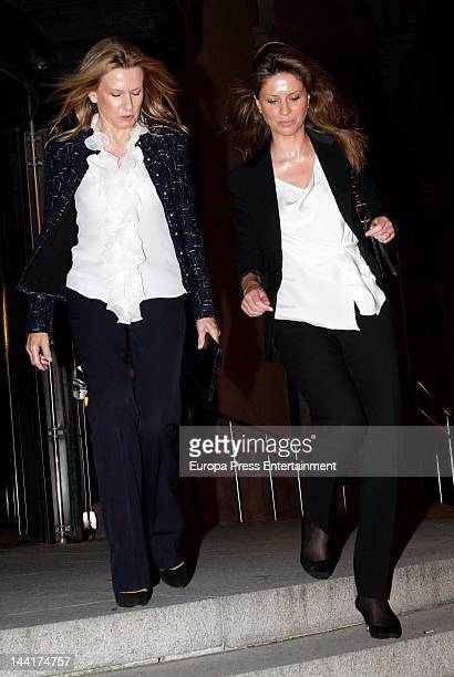 Miriam Lapique and Elena Cue are seen leaving 'Cyrano de Bergerac' Opera at Teatro Real on May 10 2012 in Madrid Spain