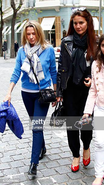 Miriam Lapique and Samantha Vallejo Najera are seen on April 16, 2015 in Madrid, Spain.