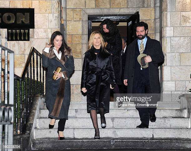 Miriam Lapique attends a dinner to celebrate the upcoming Cisneros painting exhibition 'La invencion concreta' at Queen Sofia Museum on January 16...