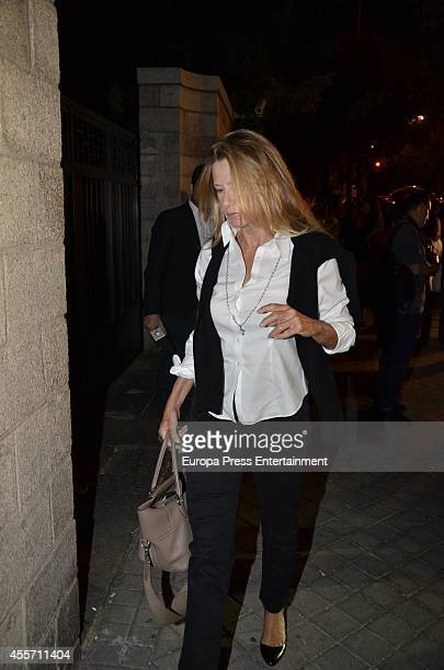 Miriam Lapique attends the funeral chapel for Isidoro Alvarez president of El Corte Ingles who died at 79 aged on September 14 2014 in Madrid Spain