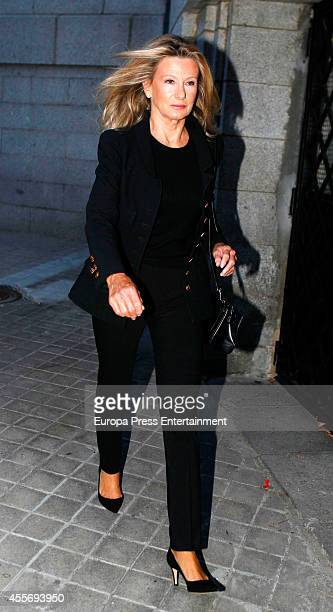 Miriam Lapique attends the funeral for Crista of Bavaria who died last July in Madrid at San Agustin Church on September 17 2014 in Madrid Spain