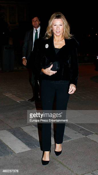 Miriam Lapique attends the homage to the soprano Montserrat Caballe at Royal Theatre on December 9 2014 in Madrid Spain