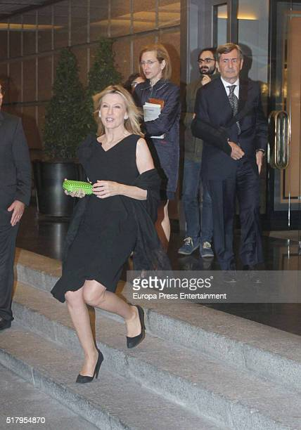Miriam Lapique attends the Mario Vargas Llosa 80th birthday party on March 28 2016 in Madrid Spain