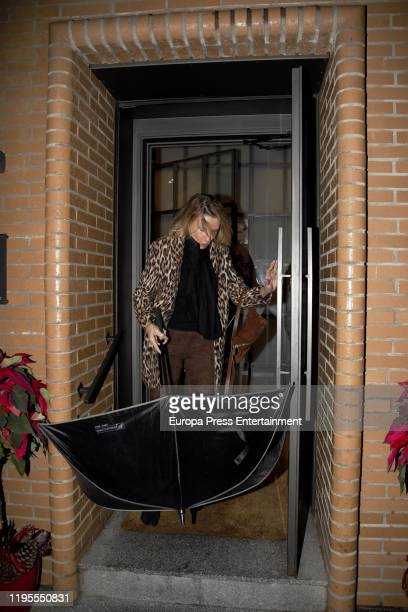 Miriam Lapique is seen arriving at 'Quenco de Pepa' for a Christmast lunch on December 20 2019 in Madrid Spain