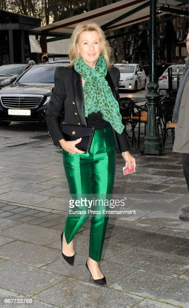 Miriam Lapique is seen going to the opera at Royal Theatre on March 24, 2017 in Madrid, Spain.