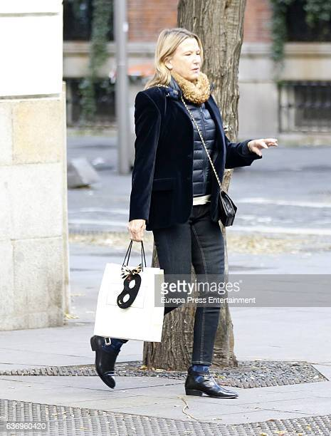 Miriam Lapique is seen on December 18 2016 in Madrid Spain