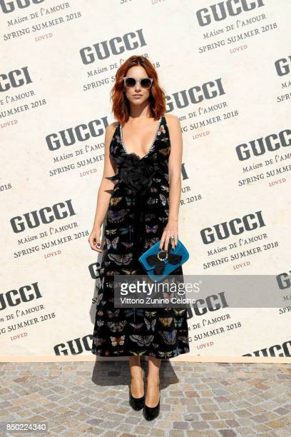 Miriam Leone arrives at the Gucci show during Milan Fashion Week Spring/Summer 2018 on September 20 2017 in Milan Italy