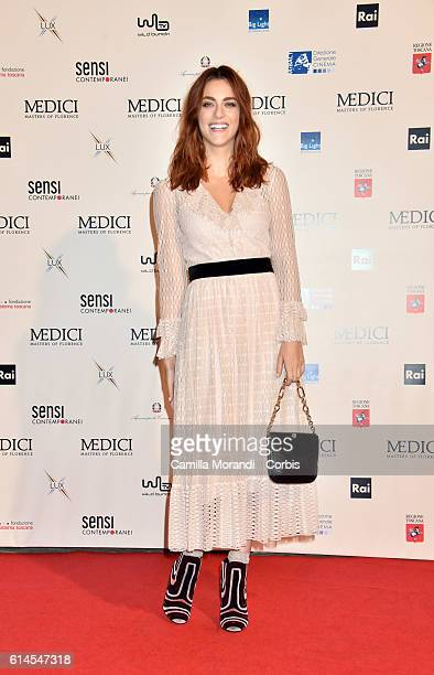 Miriam Leone attends a photocall for 'I Medici' on October 14 2016 in Florence Italy