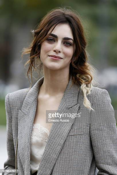Miriam Leone attends a photocall for 'Metti La Nonna Nel Freezer' at Piazza Cavour on March 9, 2018 in Rome, Italy.