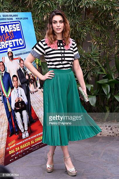 Miriam Leone attends a photocall for 'Un Paese Quasi Perfetto' on March 21 2016 in Milan Italy