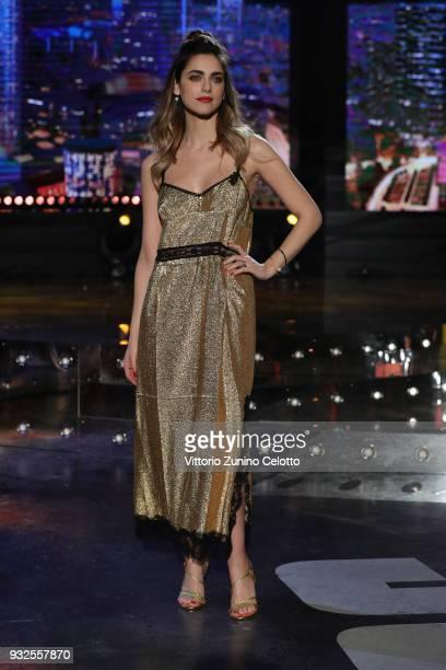 Miriam Leone attends 'E Poi C'e' Cattelan' tv show on March 15 2018 in Milan Italy